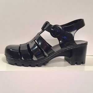 American Apparel Chunky Jelly Shoes Black